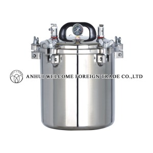 Portable Pressure Steam Sterilizer, electric or LPG heated, YX-12LM